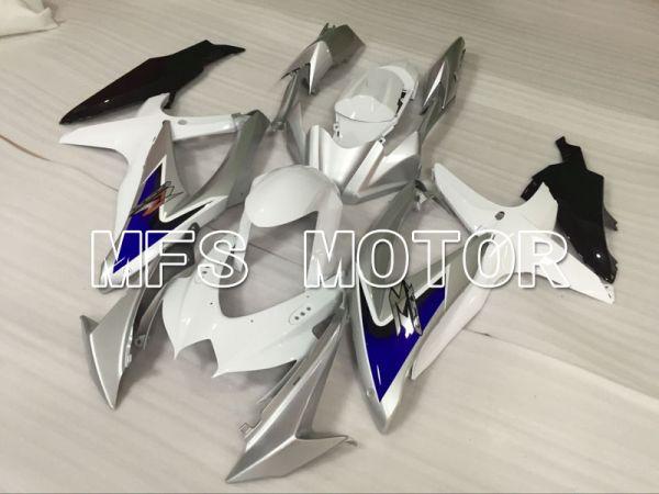 Suzuki GSXR600 GSXR750 2008-2010 Injection ABS Fairing - Factory Style - White Silver - MFS5091