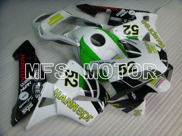 Honda CBR600RR 2003-2004 Injection ABS Fairing - HANN Spree - White Black Green - MFS2061
