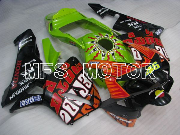 Honda CBR600RR 2003-2004 Injection ABS Fairing - Repsol - Green Black Red - MFS2069