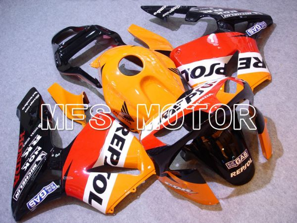 Honda CBR600RR 2003-2004 Injection ABS Fairing - Repsol - Orange Red Black - MFS2077