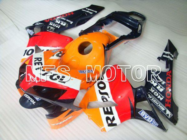 Honda CBR600RR 2003-2004 Injection ABS Fairing - Repsol - Orange Red Blue - MFS2081
