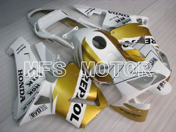 Honda CBR600RR 2003-2004 Injection ABS Fairing - Repsol - White Gold - MFS2082