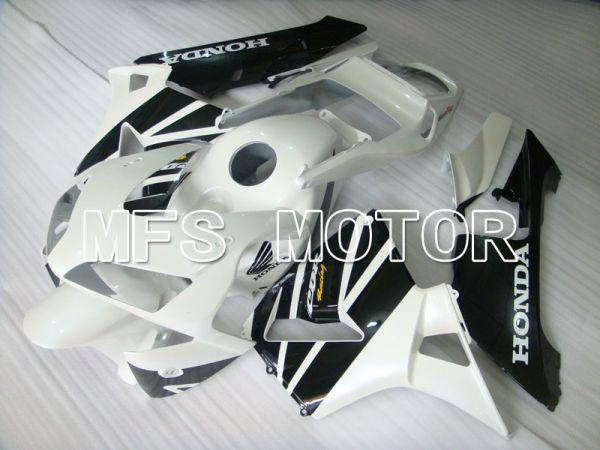 Honda CBR600RR 2003-2004 ABS Injection Fairing - Factory Style - Black White - MFS2089