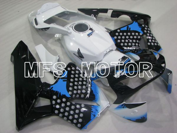 Honda CBR600RR 2003-2004 ABS Injection Fairing - Customize - Black White blue - MFS2104