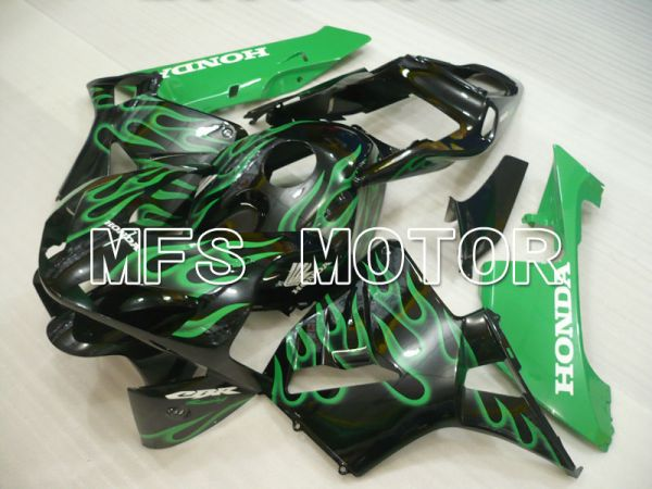 Honda CBR600RR 2003-2004 ABS Injection Fairing - Flame - Black Green - MFS2105