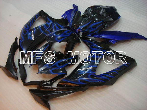 Suzuki GSXR600 GSXR750 2008-2010 Injection ABS Fairing - Flame - Blue - MFS2422