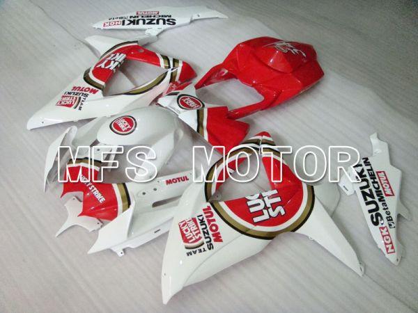 Suzuki GSXR600 GSXR750 2008-2010 Injection ABS Fairing - Lucky Strike - Red White - MFS2424