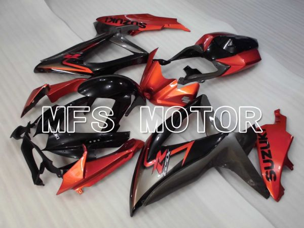 Suzuki GSXR600 GSXR750 2008-2010 Injection ABS Fairing - Factory Style - Black Orange - MFS2426