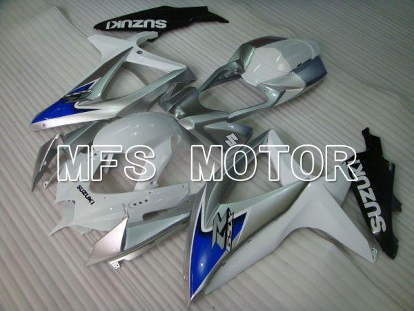 Suzuki GSXR600 GSXR750 2008-2010 Injection ABS Fairing - Factory Style - White Silver - MFS2428