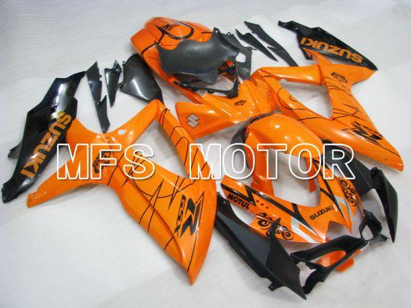 Suzuki GSXR600 GSXR750 2008-2010 Injection ABS Fairing - Corona - Black Orange - MFS2431