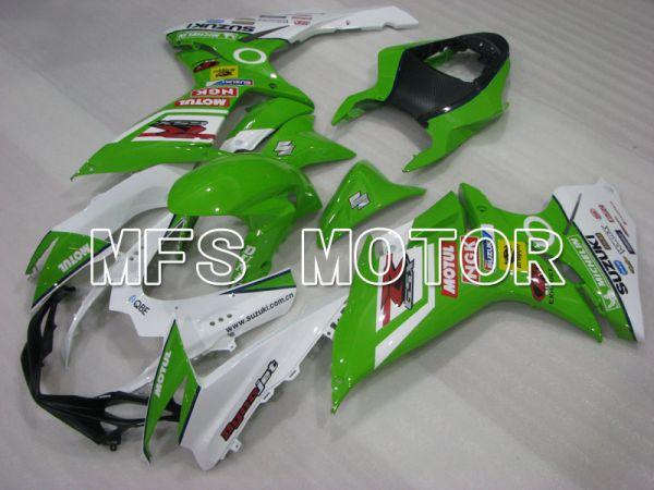 Suzuki GSXR600 GSXR750 2011-2016 Injection ABS Fairing - MOTUL - Green White - MFS2495