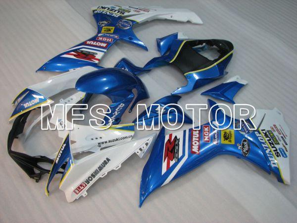 Suzuki GSXR600 GSXR750 2011-2016 Injection ABS Fairing - MOTUL - Blue White - MFS2514