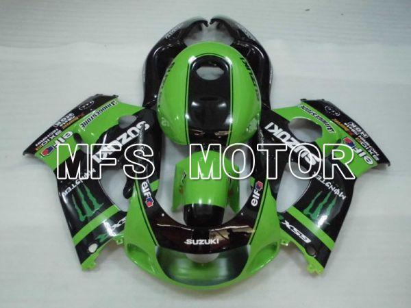 Suzuki GSXR750 1996-1999 ABS Fairing - Monster - Black Green - MFS6878
