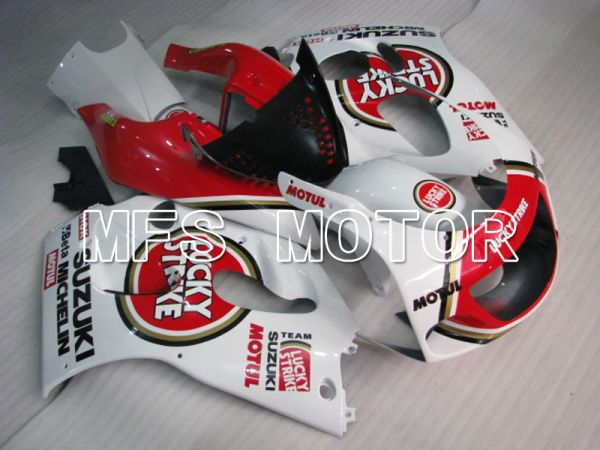 Suzuki GSXR750 1996-1999 ABS Fairing - Lucky Strike - Red White - MFS6879