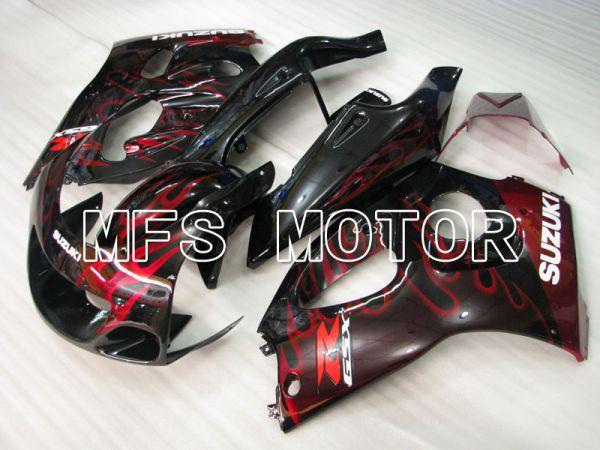 Suzuki GSXR600 1997-2000 ABS Fairing - Flame - Black Red - MFS2563