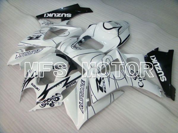 Suzuki GSXR1000 2007-2008 Injection ABS Fairing - Corona - Black White - MFS2666