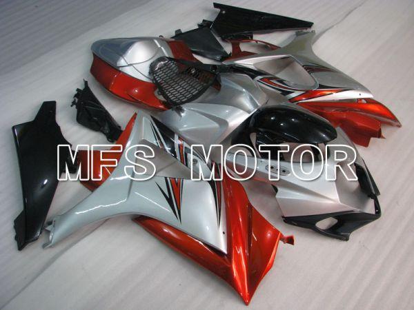 Suzuki GSXR1000 2007-2008 Injection ABS Fairing - Factory Style - Red Silver - MFS2685