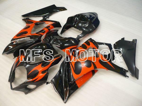 Suzuki GSXR1000 2007-2008 Injection ABS Fairing - Factory Style - Black Red - MFS2686