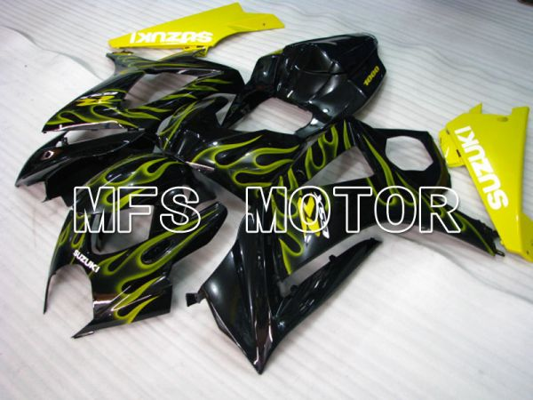 Suzuki GSXR1000 2007-2008 Injection ABS Fairing - Flame - Black Yellow - MFS2690