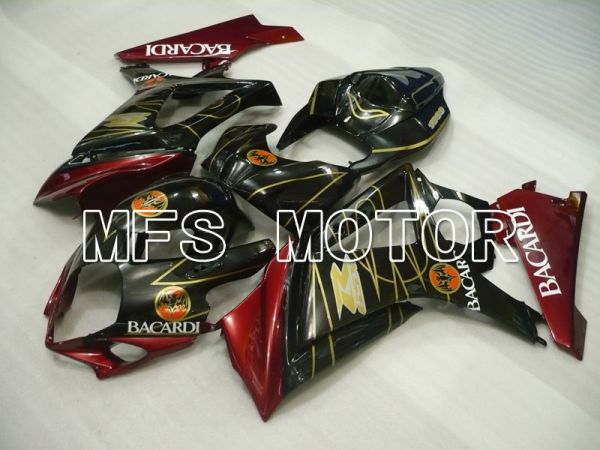 Suzuki GSXR1000 2007-2008 Injection ABS Fairing - BACARDI - Black Red - MFS2694