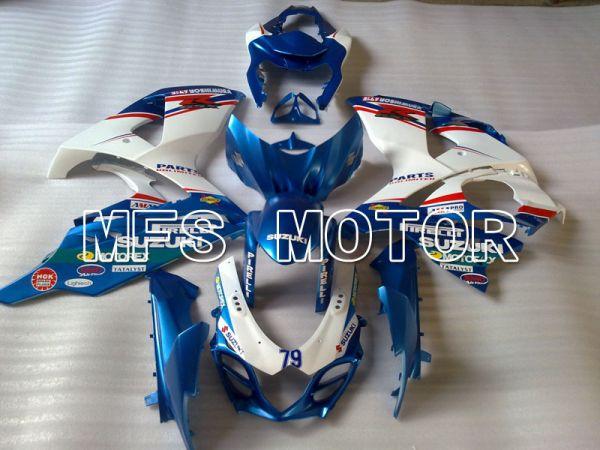 Suzuki GSXR1000 2009-2016 Injection ABS Fairing - Customize - White Blue - MFS2715