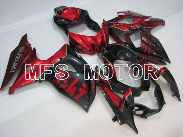 Suzuki GSXR1000 2009-2016 Injection ABS Fairing - Factory Style - Black red - MFS2730