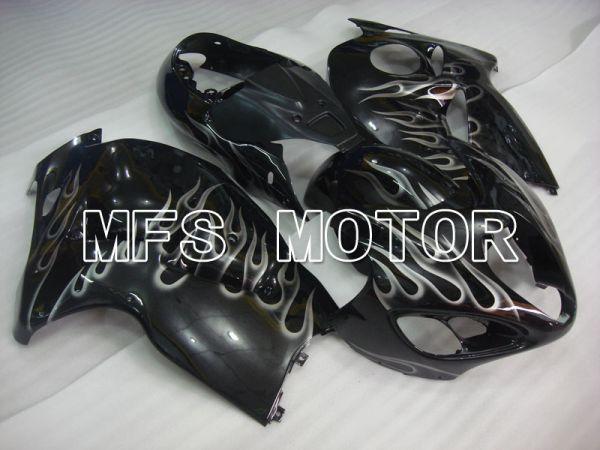 Suzuki GSXR1300 Hayabusa 1999-2007 Injection ABS Fairing - Flame - Black White - MFS2802
