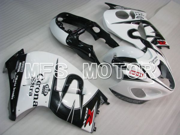 Suzuki GSXR1300 Hayabusa 1999-2007 Injection ABS Fairing - Corona - Black White - MFS2805