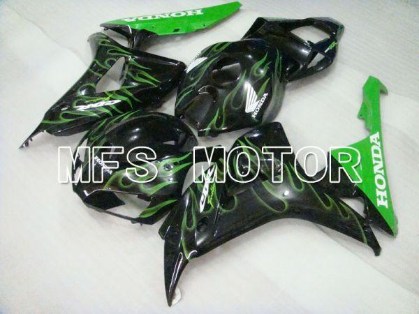 Honda CBR1000RR 2006-2007 Injection ABS Fairing - Flame - Black Green - MFS2882