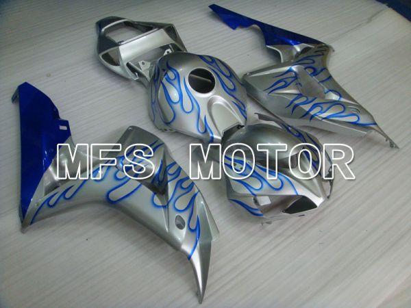 Honda CBR1000RR 2006-2007 Injection ABS Fairing - Flame - Blue Silver - MFS2883
