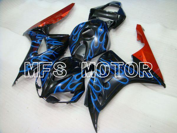 Honda CBR1000RR 2006-2007 Injection ABS Fairing - Flame - Black Blue - MFS2884