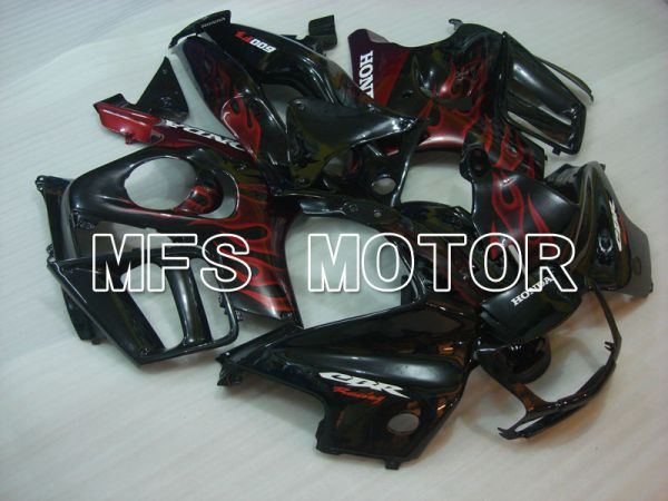 Honda CBR600 F3 1997-1998 Injection ABS Fairing - Flame - Black Red - MFS3058