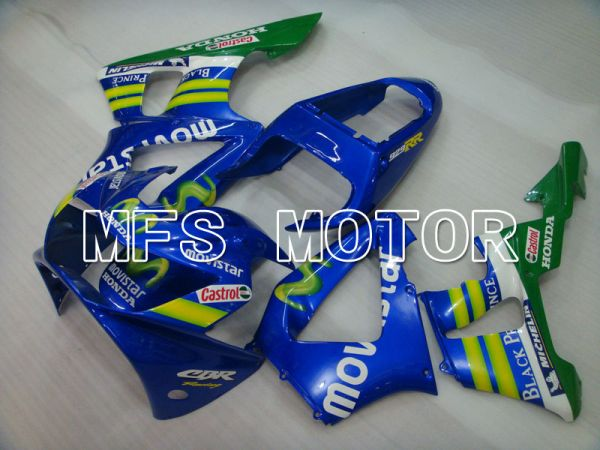 Honda CBR900RR 929 2000-2001 Injection ABS Fairing - Movistar - Blue - MFS3201