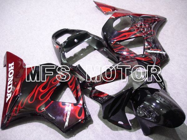 Honda CBR900RR 954 2002-2003 Injection ABS Fairing - Flame - Black Red - MFS3225