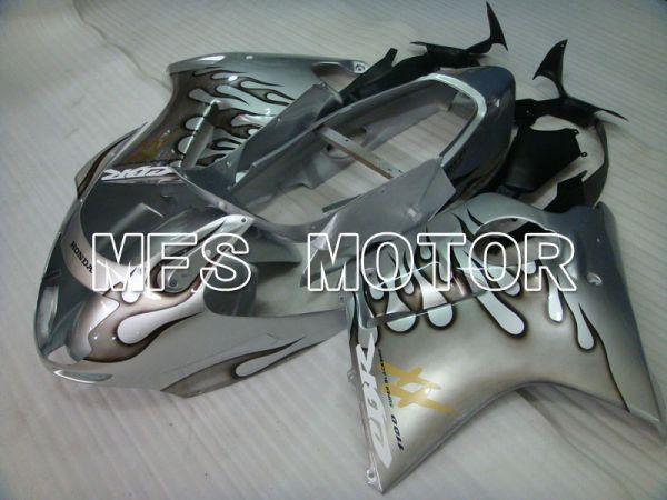 Honda CBR1100XX 1996-2007 Injection ABS Fairing - Flame - Silver - MFS3250
