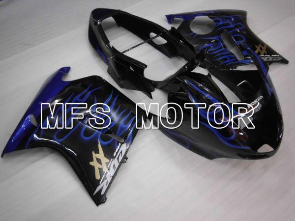 Honda CBR1100XX 1996-2007 Injection ABS Fairing - Flame - Black Blue - MFS3261