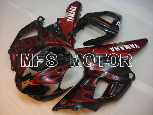 Yamaha YZF-R1 2000-2001 Injection ABS Fairing - Flame - Black Red - MFS3267