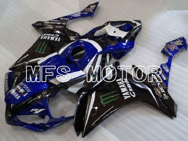 Yamaha YZF-R1 2007-2008 Injection ABS Fairing - Monster - Black Blue - MFS3461