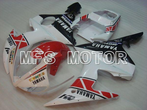 Yamaha YZF-R6 2003-2004 Injection ABS Fairing - MOTUL - White Black - MFS3497