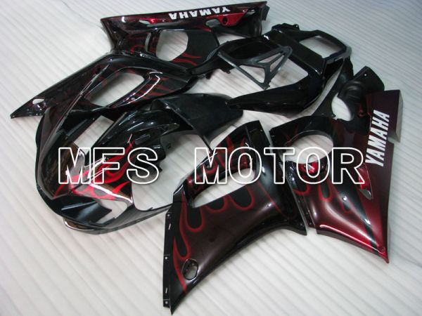Yamaha YZF-R6 1998-2002 Injection ABS Fairing - Flame - Black Red - MFS3543