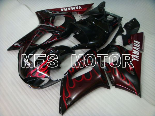 Yamaha YZF-R6 1998-2002 Injection ABS Fairing - Flame - Black Red - MFS3554