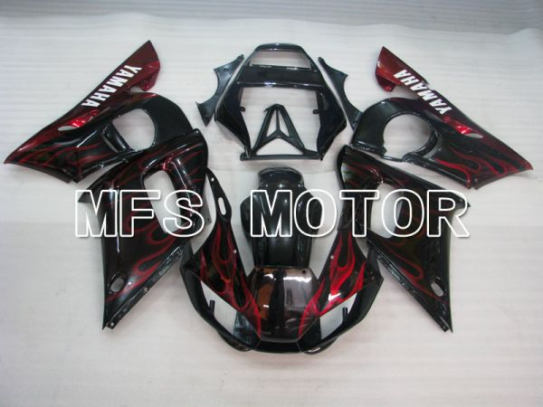 Yamaha YZF-R6 1998-2002 Injection ABS Fairing - Flame - Black Red - MFS3558