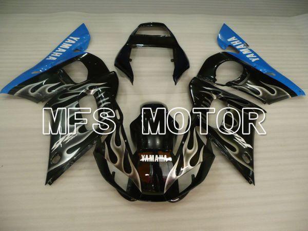 Yamaha YZF-R6 1998-2002 Injection ABS Fairing - Flame - Black White - MFS3563