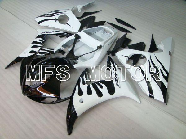 Yamaha YZF-R6 2005 Injection ABS Fairing - Flame - White Black - MFS3601