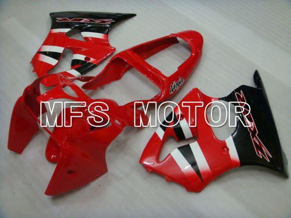 Kawasaki NINJA ZX6R 2000-2002 Injection ABS Fairing - Factory Style - Black Red - MFS3623