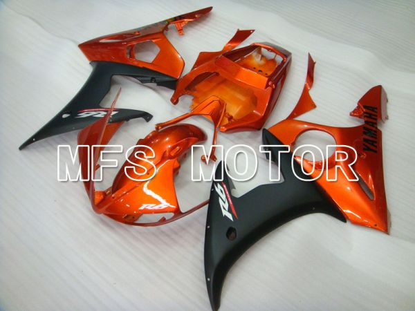 Yamaha YZF-R6 2005 Injection ABS Fairing - Factory Style - Black Matte Orange - MFS3633