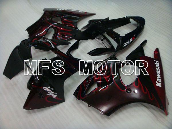 Kawasaki NINJA ZX6R 2000-2002 Injection ABS Fairing - Flame - Black Red - MFS3637