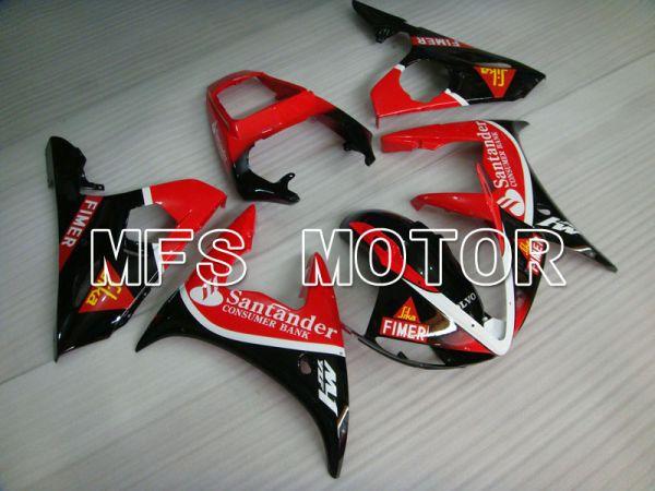 Yamaha YZF-R6 2005 Injection ABS Fairing - Santander - Black Red - MFS3645