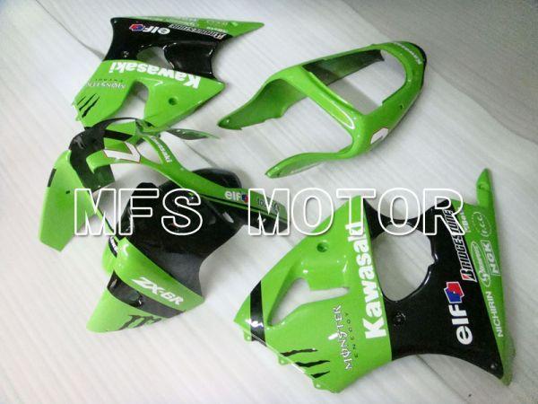 Kawasaki NINJA ZX6R 2000-2002 Injection ABS Fairing - Factory Style - Black Green - MFS3647