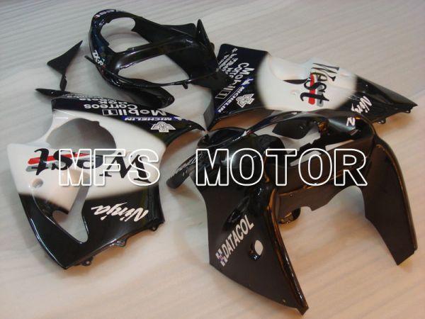 Kawasaki NINJA ZX6R 2000-2002 Injection ABS Fairing - West - Black White - MFS3658
